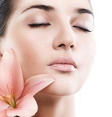 Holistic Massages. Library Image: Face and Flower